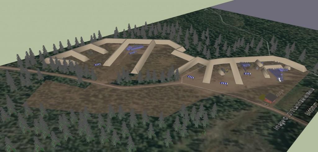 LDS Nya skjutbana NO riktning